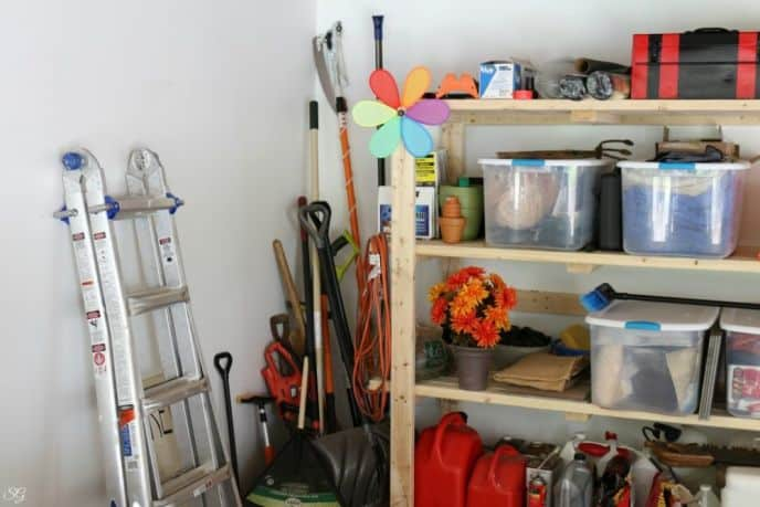 My Unorganized Garage Corner