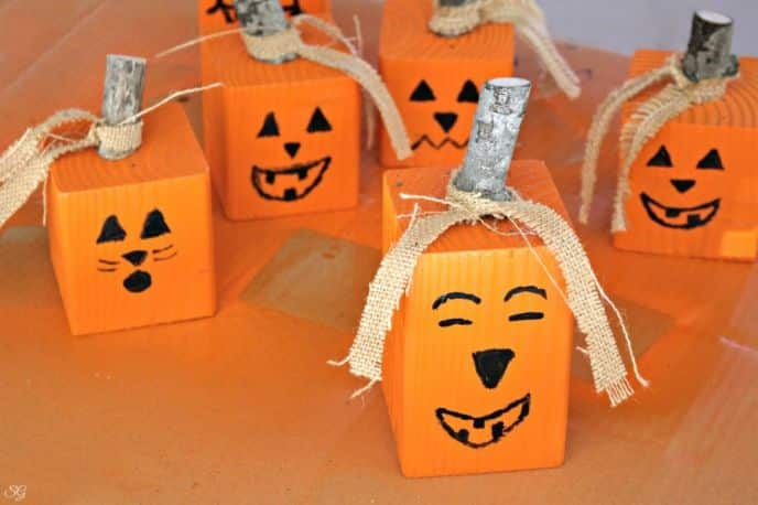 DIY Fall Pumpkin Jack O' Lantern Decorations