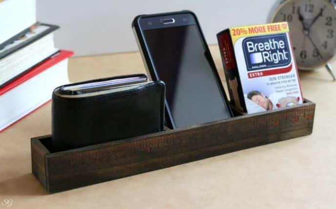 Unique DIY Nightstand Organizer