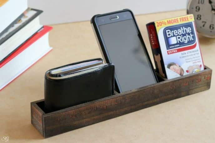 Wood Yardstick DIY Organizer
