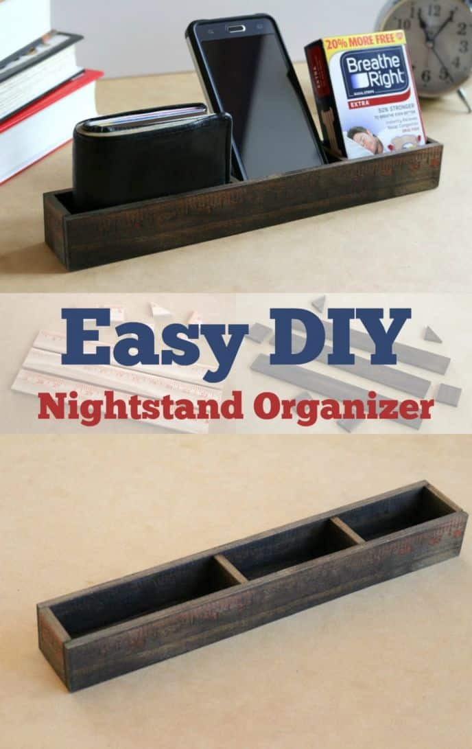 I've finally broke down and built a DIY nightstand organizer for myself. I've needed a nightstand organizer for a while, so today I'm building a unique one! #TomorrowStartsTonight
