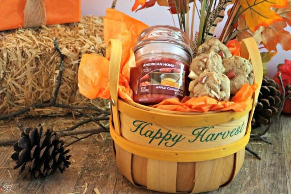 Cookies and Candle Gift Basket