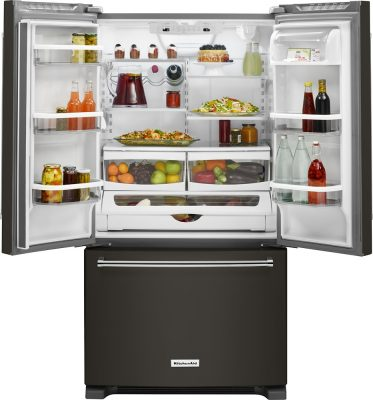 Black Stainless KitchenAid Refrigerator