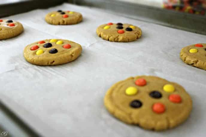 Pumpkin Cookies with M&M's Baking Bits