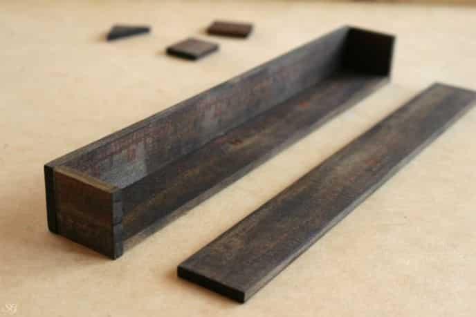 DIY Wood Nightstand Organizer