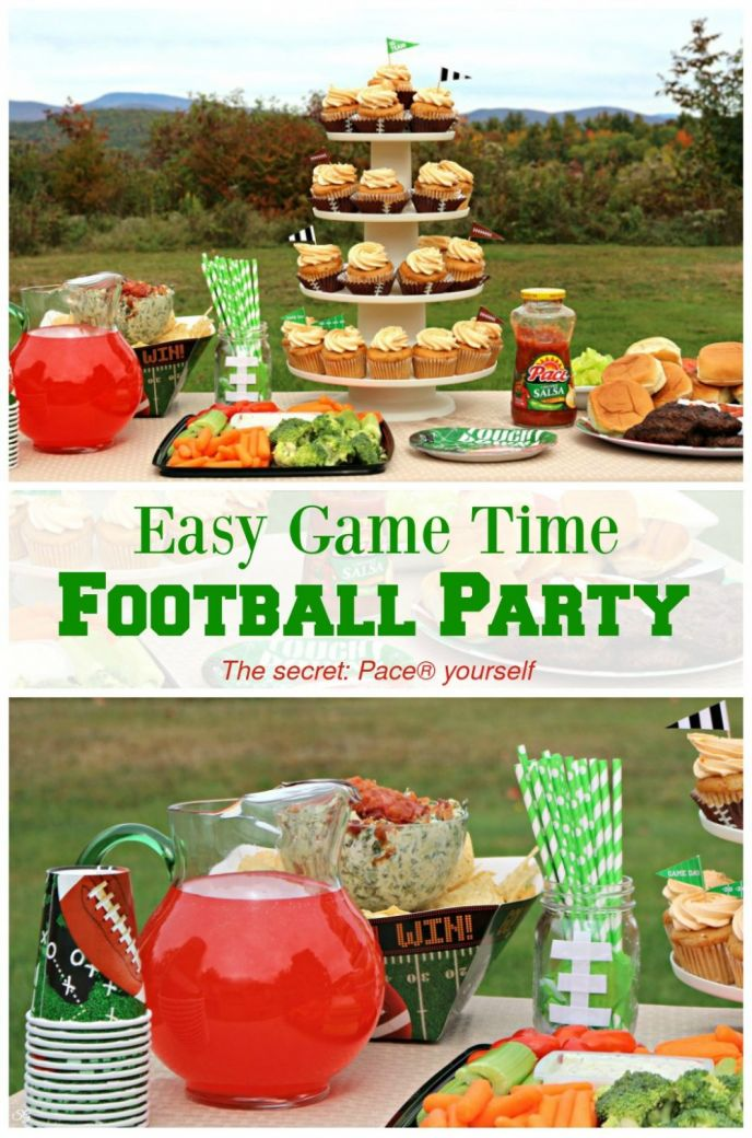 Throw an easy football party with spicy taco sliders, loaded spinach and artichoke dip, and other football foods. Click to learn how you can throw an easy football party!