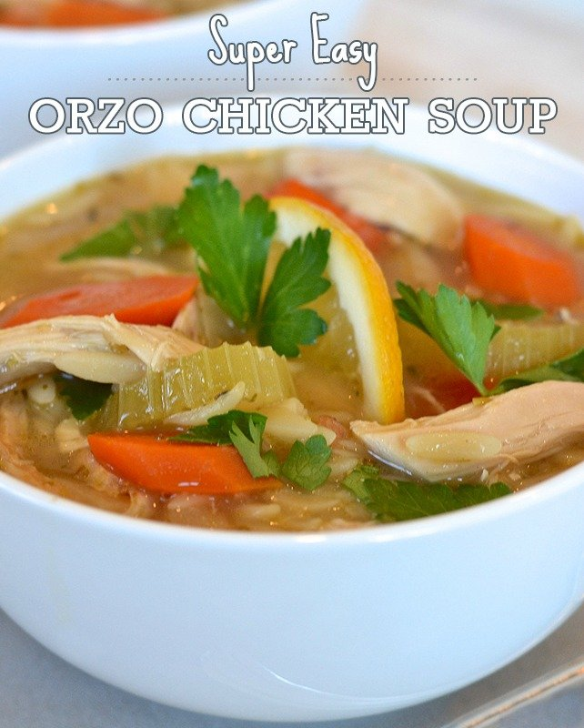 Orzo Chicken Soup; Check out this recipe, it's so easy to make and so very delicious!
