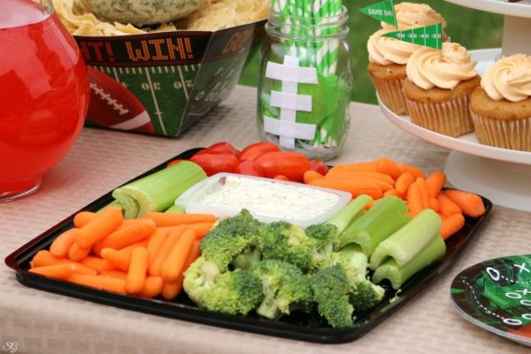 Vegetable Platter for Football Party