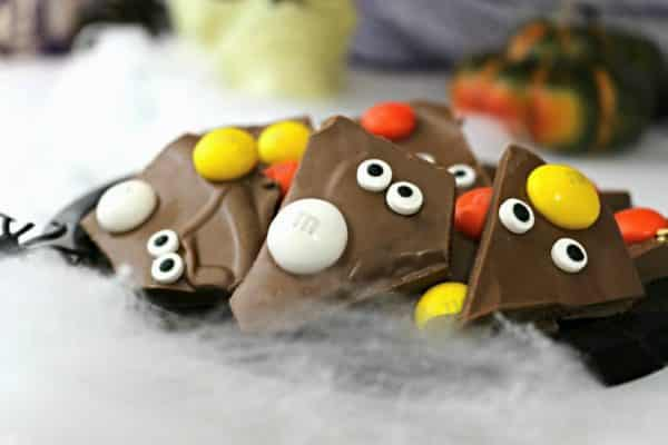 M&M's Halloween Candy Corn Bark