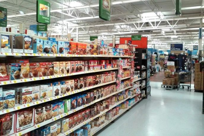 Walmart baking aisle