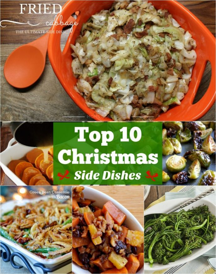 The best Christmas side dishes all in one place! Check out these 10 best Christmas side dish recipes to make and serve at your Christmas dinner!