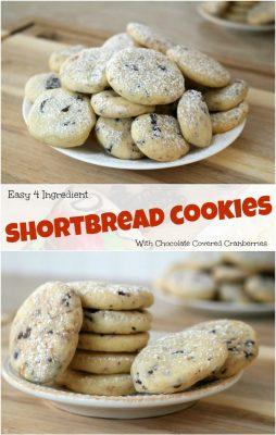 Easy cranberry shortbread cookie recipe