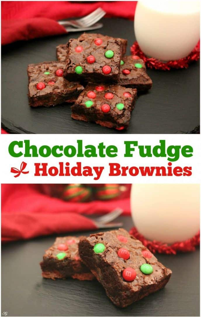 Baking brownies is always a fun holiday tradition. Check out these easy chocolate fudge holiday brownies with M&M's® Milk Chocolate Baking Bits!