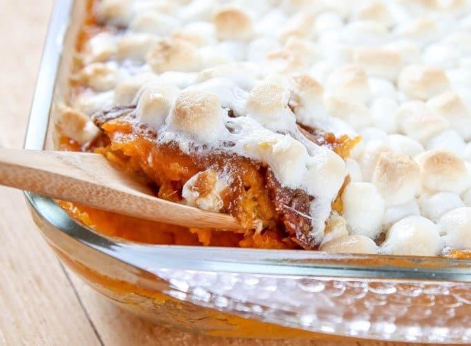 Christmas Dinner Crock Pot Sweet Potato Casserole Recipe