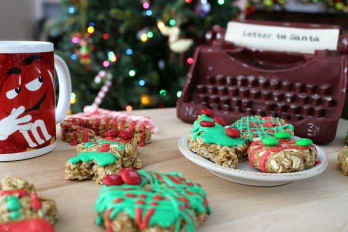 No Bake Oatmeal Christmas Cookies