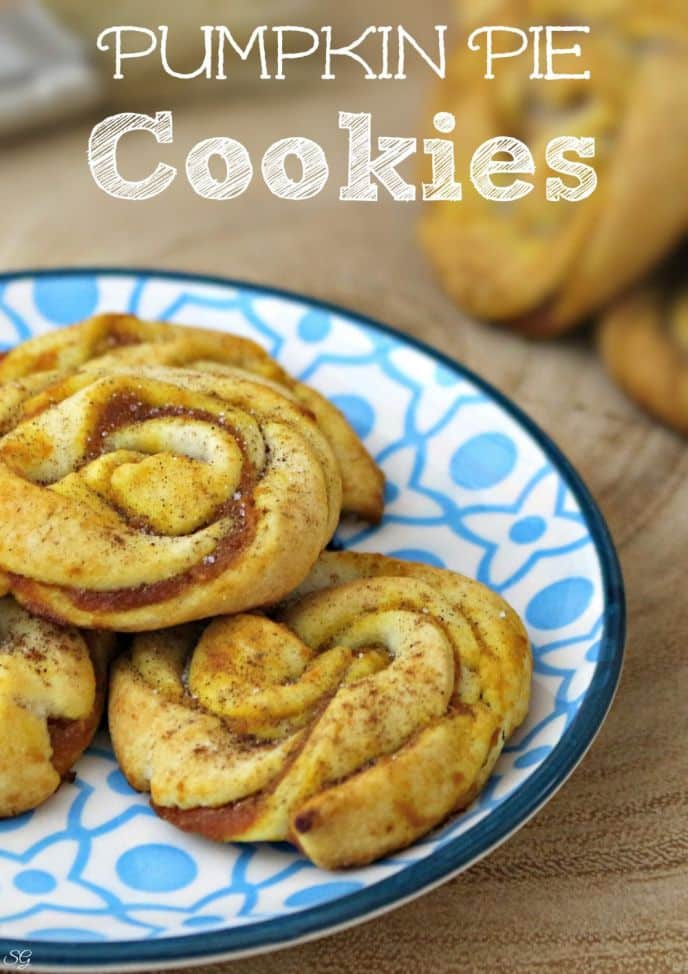 Easy Pumpkin Pie Twisted Cookie! Two ingredients is all it takes to get these pumpkin pie cookies in the oven!
