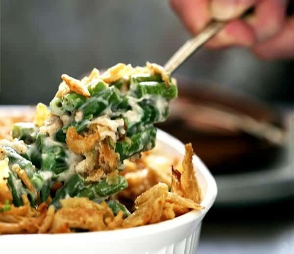 Double Onion Green Bean Thanksgiving Casserole