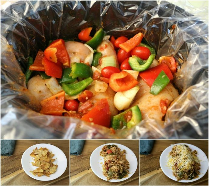 How to make crock pot chicken chilaquiles