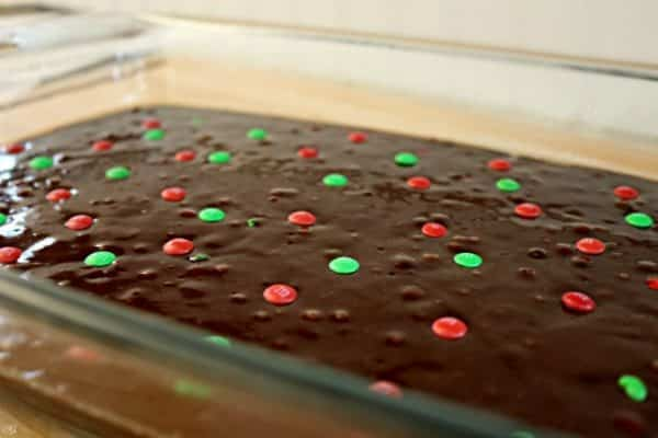 M&M's Holiday Brownies
