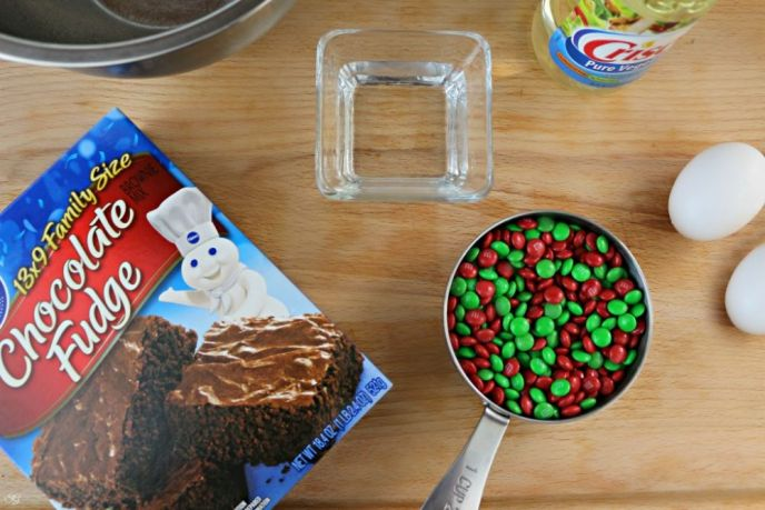 Fudge Brownies with M&M's Baking Bits