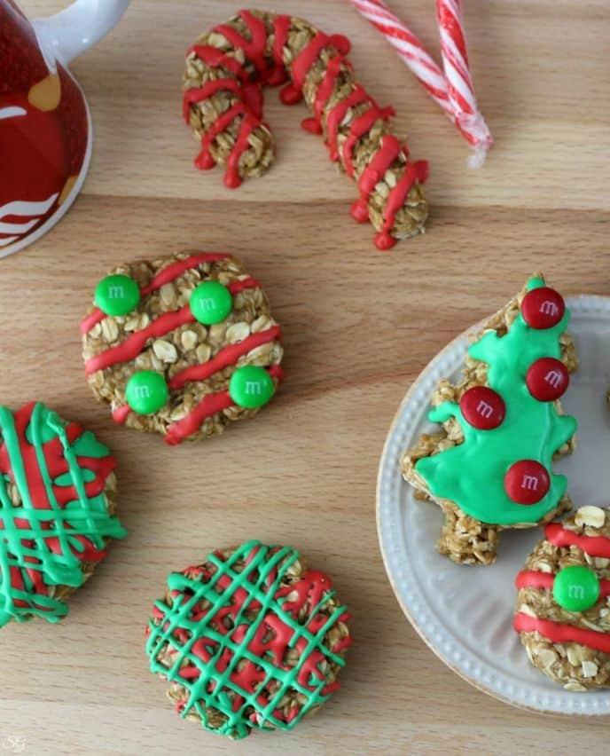 No Bake Oatmeal Cookies For Santa! • Scrappy Geek