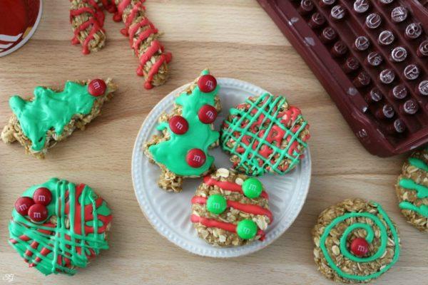 No Bake Oatmeal Cookies for Christmas