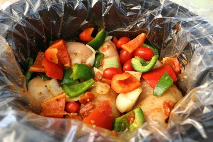 Crock Pot Chicken Chilaquiles