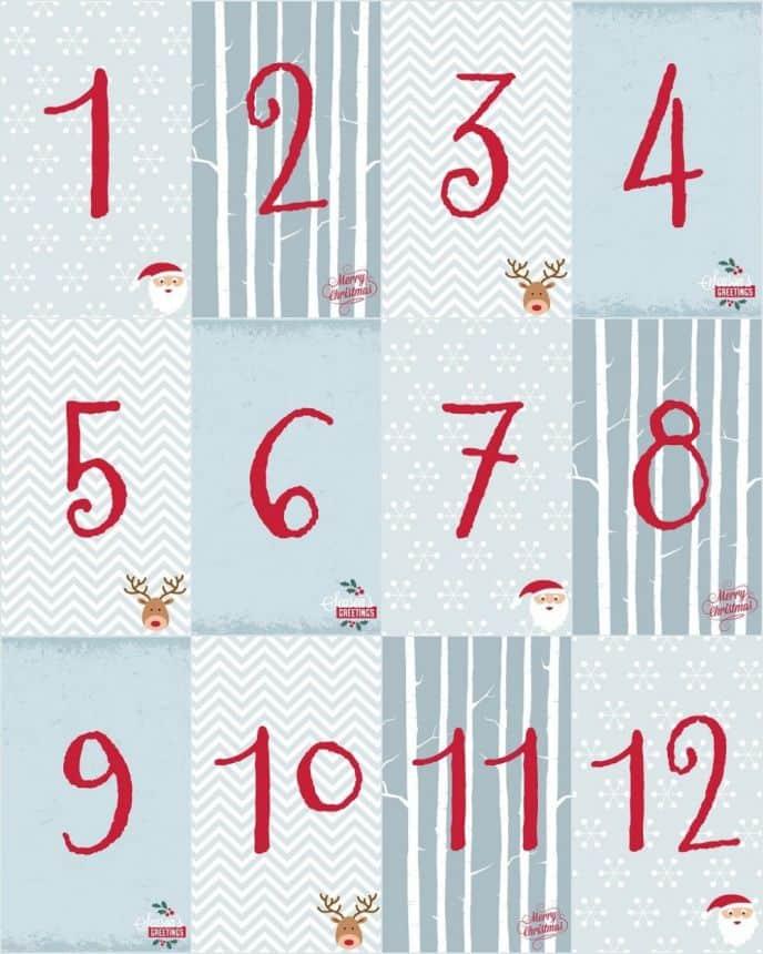 12 Says of Christmas Gift Tags