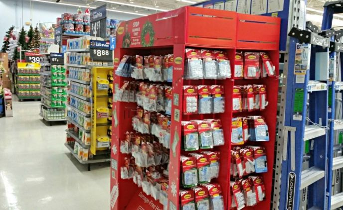Holiday Command Hooks at Walmart