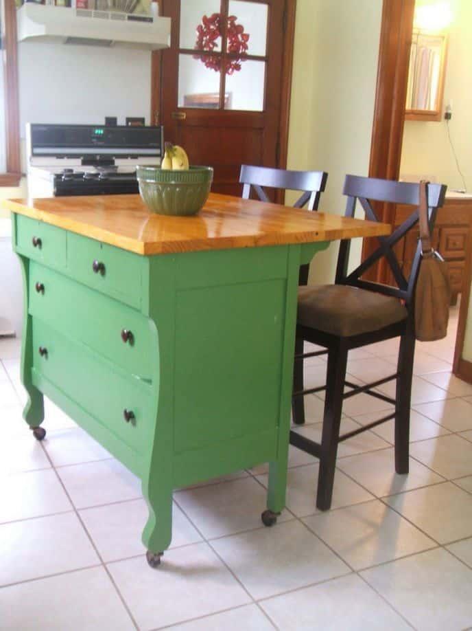 Dresser re purposed kitchen island