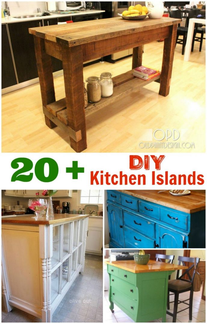 DIY Kitchen Islands. These kitchen island DIY projects are great inspiration to draw from.  sc 1 st  Scrappy Geek & DIY Kitchen Island Ideas and Inspiration