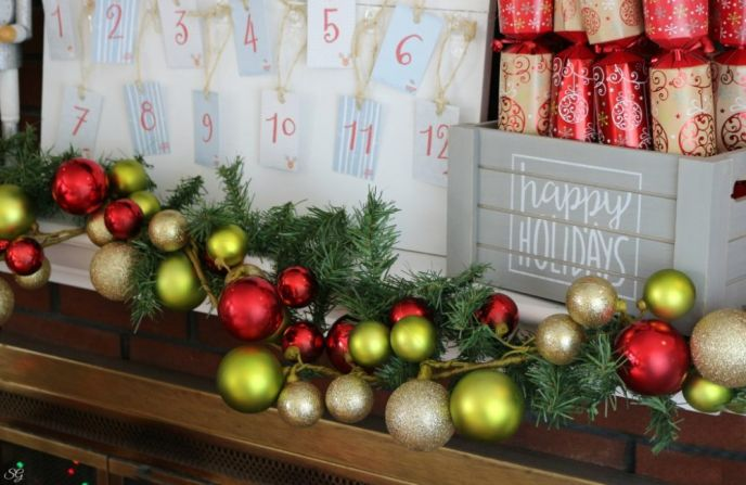Decorating with Garland and Command Hooks