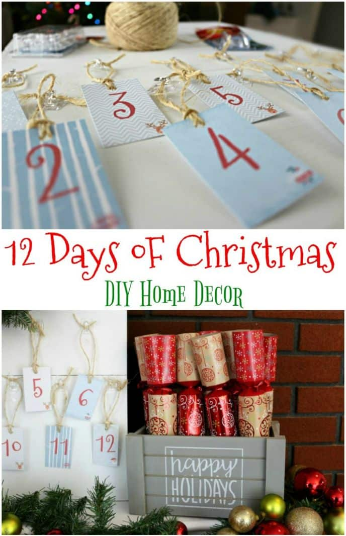 12 Days of Christmas DIY Home Decorations. Check out this fun and EASY DIY home decoration idea for the 12 days of Christmas!