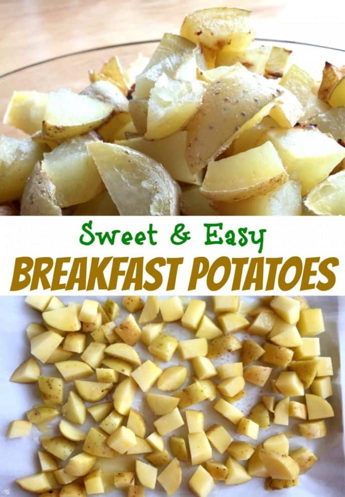 Sweet Breakfast Potatoes Recipe. Check out how easy it is to make these delicious sweet roasted breakfast potatoes! Make roasted potatoes for weekend breakfast!