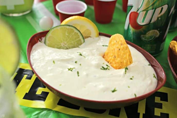7UP Party Dip Recipe. A party dip infused with 7UP Lemon Lime Soda
