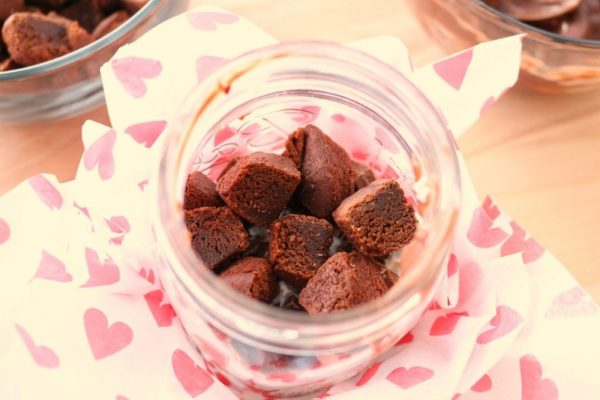 Valentine's Day Chocolate Brownie Trifles