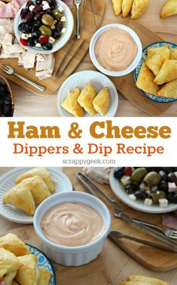 Ham and Cheese Dippers and Dip Recipe! Check out this easy ham and cheese lunch recipe and get a bonus weeknight entertainment platter idea!