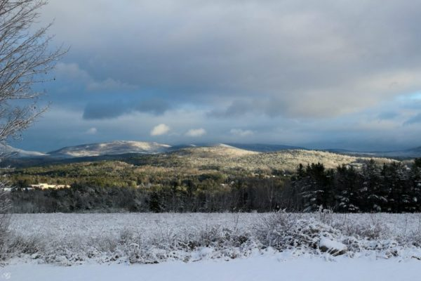 View of Mt Moosilauke area from Enfield, New Hampshire