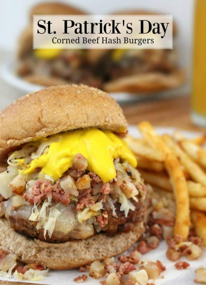 Easy corned beef hash burger recipe. Get this easy hamburger recipe loaded with corned beef hash and sauerkraut!