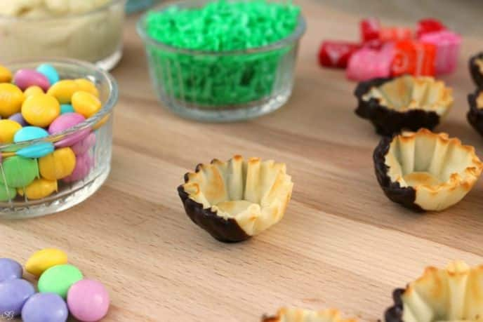 Easter Fillo Cup Pudding Snacks