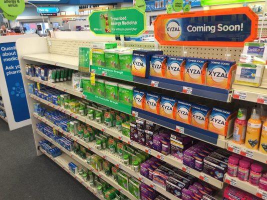 Xyzal at CVS Pharmacy