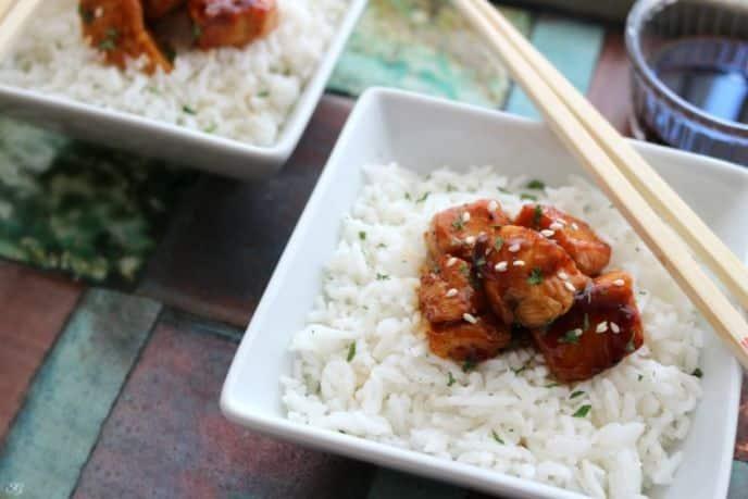 BBQ Glazed Chicken and Rice Dinner Recipe
