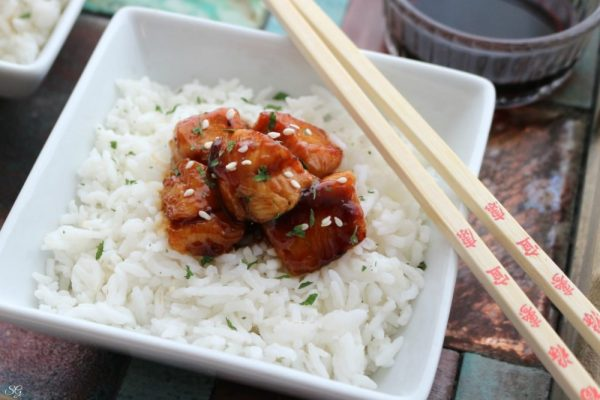 Easy BBQ Glazed Chicken and Rice Recipe