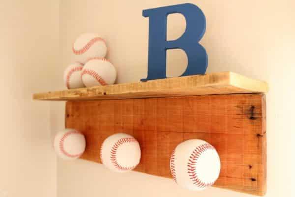 Baseball Hat Rack DIY Project