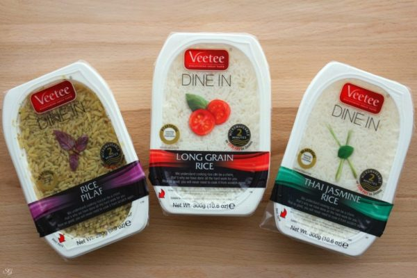 Veetee White Rice, Rice Pilaf and Jasmine Rice