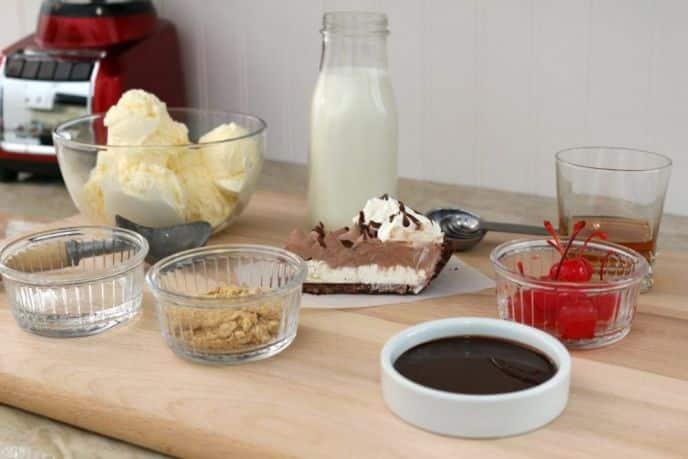 Chocolate Hershey's Creme Pie Milkshake Frosty