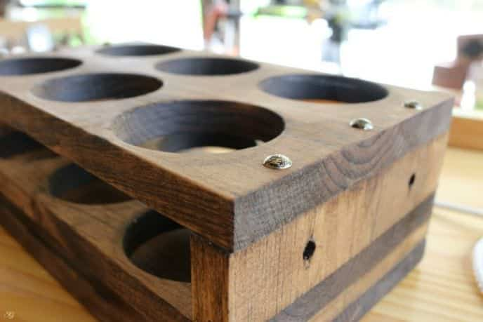 6 Pack DIY Wooden Beer Holder
