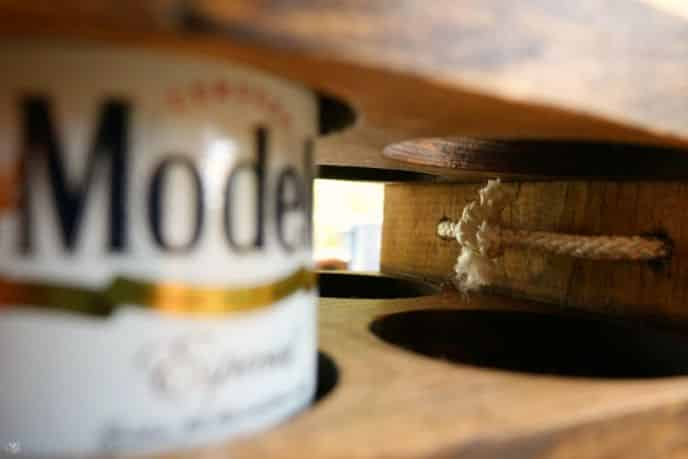 Wooden Beer Caddy Handle