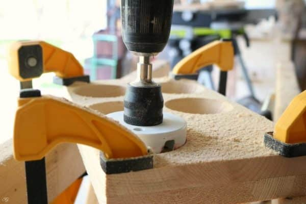 Cutting Holes for Beer Caddy