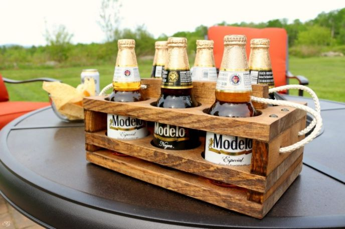 DIY Wooden Beer Caddy Holder